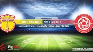 Soi kèo nhà cái Nam Định vs Viettel.TTTV, BĐTV, VTV6 trực tiếp LS V-League