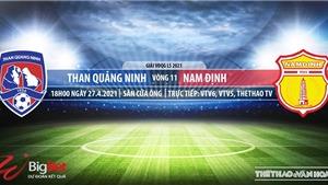 Soi kèo nhà cái Than Quảng Ninh vs Nam Định.VTV6 trực tiếp vòng 11 V-League