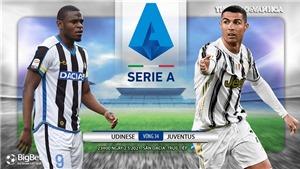 Soi kèo nhà cáiUdinese vs Juventus. FPT trực tiếp bóng đá Serie A