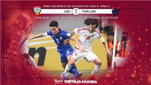 UAE vs Thái Lan: Kèo nhà cái. VTV6, VTV5 trực tiếp bóng đá vòng loại World Cup 2022