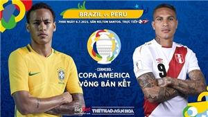 Kèo nhà cái. Soi kèo Brazil vs Peru. Trực tiếp bóng đá Copa America 2021