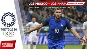 Kèo nhà cái. Soi kèo U23 Mexico vs Pháp. VTV6 VTV5 trực tiếp bóng đá Olympic 2021