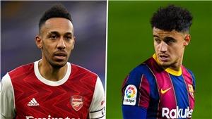 Barca muốn đổi Coutinho lấy Aubameyang của Arsenal