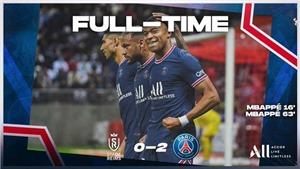 Reims 0–2 PSG: Messi ra mắt trong ngày Mbappe tỏa sáng