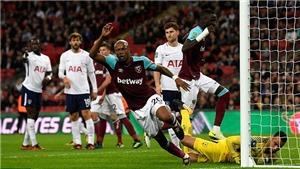 Video clip highlights bàn thắng trận Tottenham 2-3 West Ham