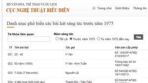 Lòng vòng cấp phép ca khúc trước 1975