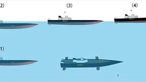 Trung Quốc chế tạo tàu chiến có thể biến thành tàu ngầm tàng hình