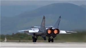VIDEO: Chiến đấu cơ MiG-31 của Nga tiêu diệt tên lửa siêu thanh