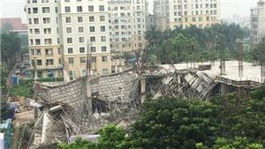 HIỆN TRƯỜNG vụ sập công trình trường mầm non tại Mỹ Đình, Hà Nội