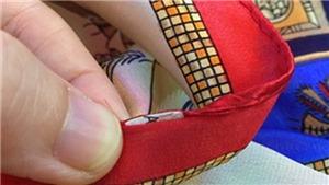 Khăn lụa Khaisilk 'Made in China': Ở Hà Nội, Louis Vuitton bán đầy đường