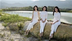 Thùy Dung, Thanh Tú, Đào Hà 'kheo sắc' với áo dài cách tân của NTK Anh Thư