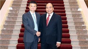 Thủ tướng Nguyễn Xuân Phúc tiếp tỷ phu Jack Ma: Đề nghị Tập đoàn Alibaba mở một gian hàng quốc gia Việt Nam