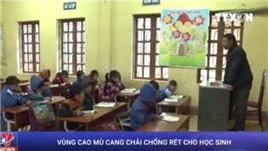 VIDEO: Mù Cang Chải 'căng mình' chống rét cho học sinh