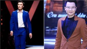 Ca sĩ Hoàng Bách khích lệ khi Bùi Tiến Dũng catwalk trên sàn diễn thời trang