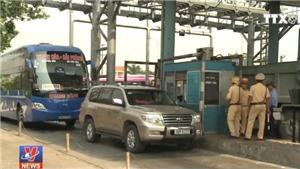 Lái xe xô xát với nhân viên trạm thu phí cầu Tân Đệ, Thái Bình