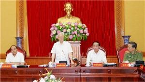 Tổng Bí thư, Chủ tịch nước, Thủ tướng dự Hội nghị Ban Thường vụ Đảng ủy Công an Trung ương