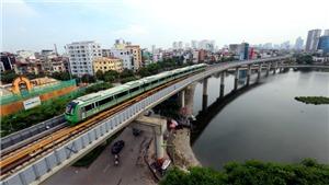 Đoàn tàu tuyến đường sắt đô thị Cát Linh-Hà Đông chạy thử