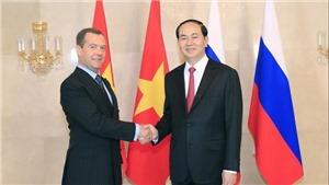 Thủ tướng Liên bang Nga Dmitry Medvedev chia buồn về việc Chủ tịch nước Trần Đại Quang từ trần
