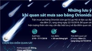 Những lưu ý khi chiêm ngưỡng mưa sao băng Orionids đêm 21 rạng sáng 22/10