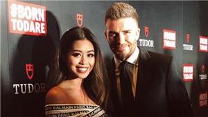 Hot girl Thảo Tiên cùng mẹ gặp lại David Beckham tại Singapore
