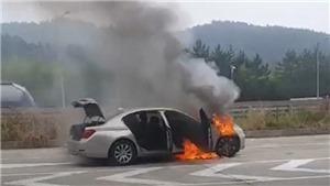 Tiếp tục xảy ra sự cố cháy xe BMW tại Hàn Quốc