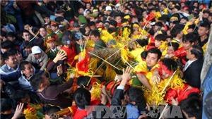 Không phát tràn lan lộc hoa tre trong Ngày Khai hội Gióng đền Sóc