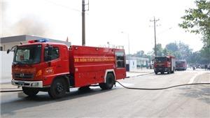 Đang cháy lớn ở Khu công nghiệp Sóng thần, Bình Dương
