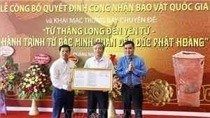 Công bố quyết định công nhận hai bảo vật quốc gia tại Quảng Ninh