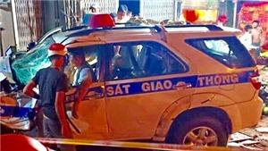 Đình chỉ công tác Thiếu úy Cảnh sát giao thông gây tai nạn chết người