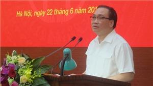 Bí thư Thành ủy Hà Nội Hoàng Trung Hải đối thoại với đoàn viên, thanh thiếu nhi Thủ đô