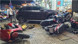 Điều tra nguyên nhân vụ nữ tài xế lái xe Mercedes đâm nhiều xe máy ở Thành phố Hồ Chí Minh