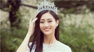 Tân Hoa hậu Lương Thùy Linh đẹp dịu dàng trong trang phục của NTK Nguyễn Quảng