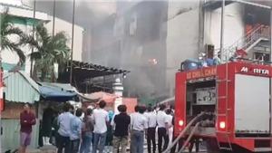 Hình ảnh về vụ cháy lớn trong khu công nghiệp Sóng Thần 1 (Bình Dương)
