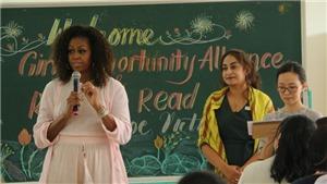 Cựu Đệ nhất Phu nhân Tổng thống Mỹ Michelle Obama thăm trường học ở Long An
