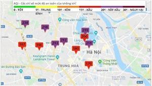 Hà Nội ô nhiễm không khí ở mức cảnh báo tím