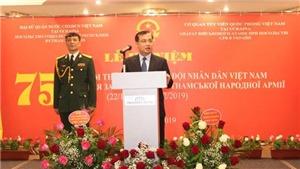 Kỷ niệm ngày thành lập QĐND và Công bố Sách Trắng Quốc phòng Việt Nam tại Ukraine