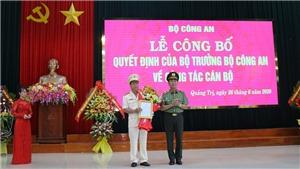 Đại tá Nguyễn Văn Thanh được bổ nhiệm làm Giám đốc Công an tỉnh Quảng Trị