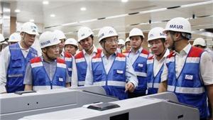 Phó Thủ tướng Phạm Bình Minh khảo sát tuyến đường sắt đô thị Bến Thành – Suối Tiên