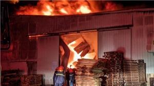 Hải Phòng: Cháy hàng nghìn m2 nhà xưởng của công ty nội thất