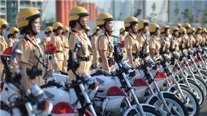 TP. Hồ Chí Minh ra mắt đội hình nữ Cảnh sát giao thông dẫn đoàn