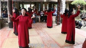 Chương trình 'Hát Xoan làng cổ' - Sản phẩm du lịch đặc trưng tại Giỗ Tổ Hùng Vương 2021