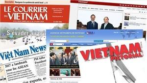 Tiếp tục thực hiện 'Đề án phát triển một số báo in và báo điện tử đối ngoại quốc gia của Thông tấn xã Việt Nam'
