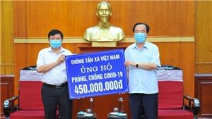 Thông tấn xã Việt Nam ủng hộ 450 triệu đồng cho công tác phòng, chống dịch Covid-19