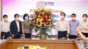 Trưởng ban Tuyên giáo Trung ương Nguyễn Trọng Nghĩa chúc mừng TTXVN nhân Ngày Báo chí Cách mạng Việt Nam