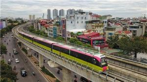 Hình ảnh đoàn tàu tuyến đường sắt đô thị Nhổn - Ga Hà Nội chạy thử nghiệm