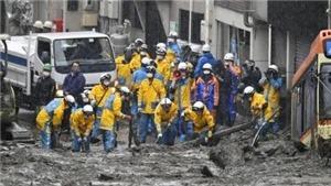 Tìm kiếm người mất tích vì lở đất ở Nhật Bản khó khăn vì mưa lớn tiếp diễn