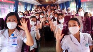 Đoàn y bác sĩ Phú Thọ, Bắc Ninh, Hải Phòng lên đường hỗ trợ Hà Nội chống dịch Covid-19