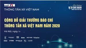 Công bố Giải thưởng báo chí TTXVN năm 2020 và phát động Giải năm 2021