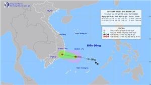Chiều tối 26/10, áp thấp nhiệt đới suy yếu, từ Thừa Thiên-Huế trở vào mưa to