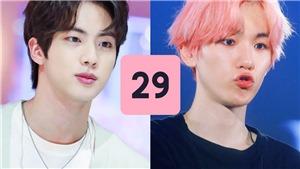 Jin BTS cùng dàn sao nam K-Pop gây 'choáng' khi chuẩn bị bước sang tuổi 29 nhưng ngoại hình vẫn 'trẻ măng'